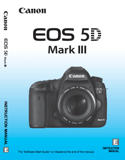 canon 5d mark iii user manual pdf