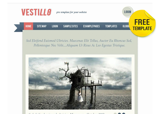 Free Vestillo Clean Joomla 2.5 Template from globbersthemes.com