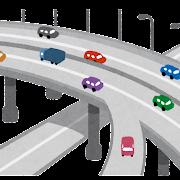 高速道路のイラスト