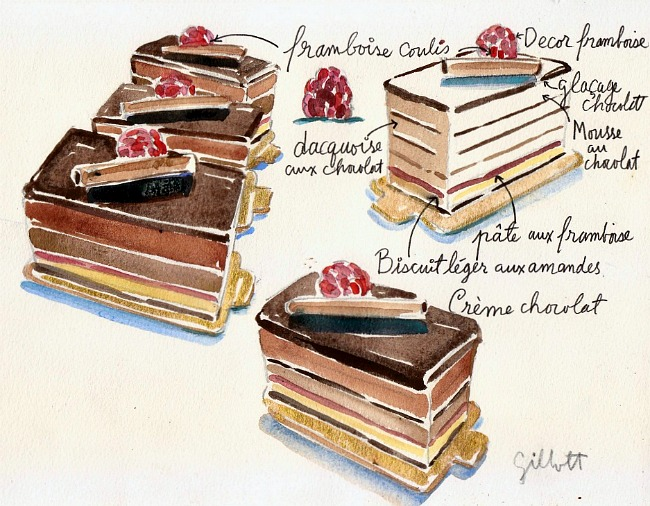 Financier Gateau chocolat by Carol Gillott