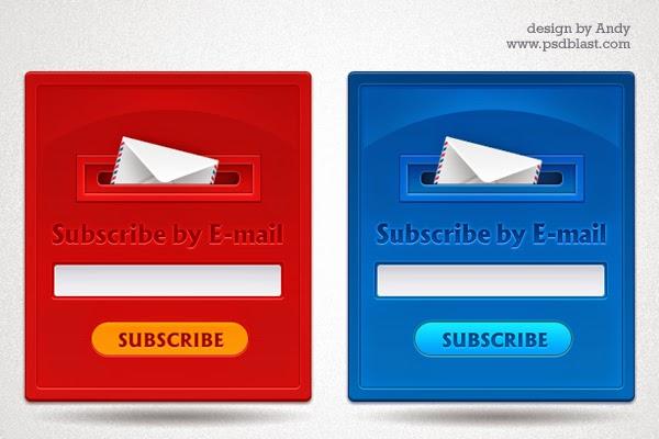 Subscription Form Design PSD