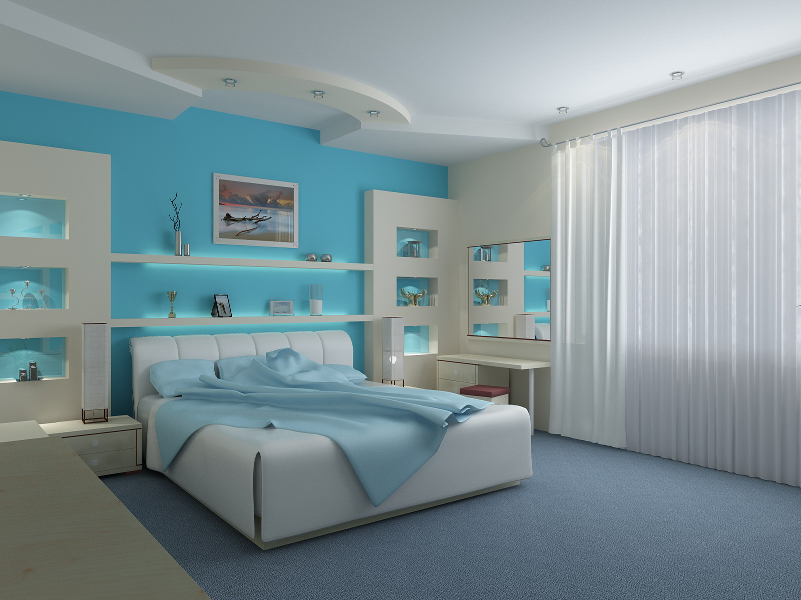 Bedrooms Images Unique With Blue Bedroom Paint Ideas Photos