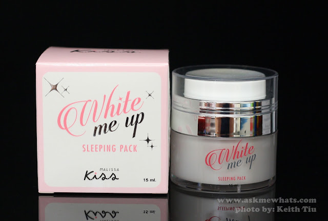A photo of Malissa Kiss White Me UP Sleeping Pack