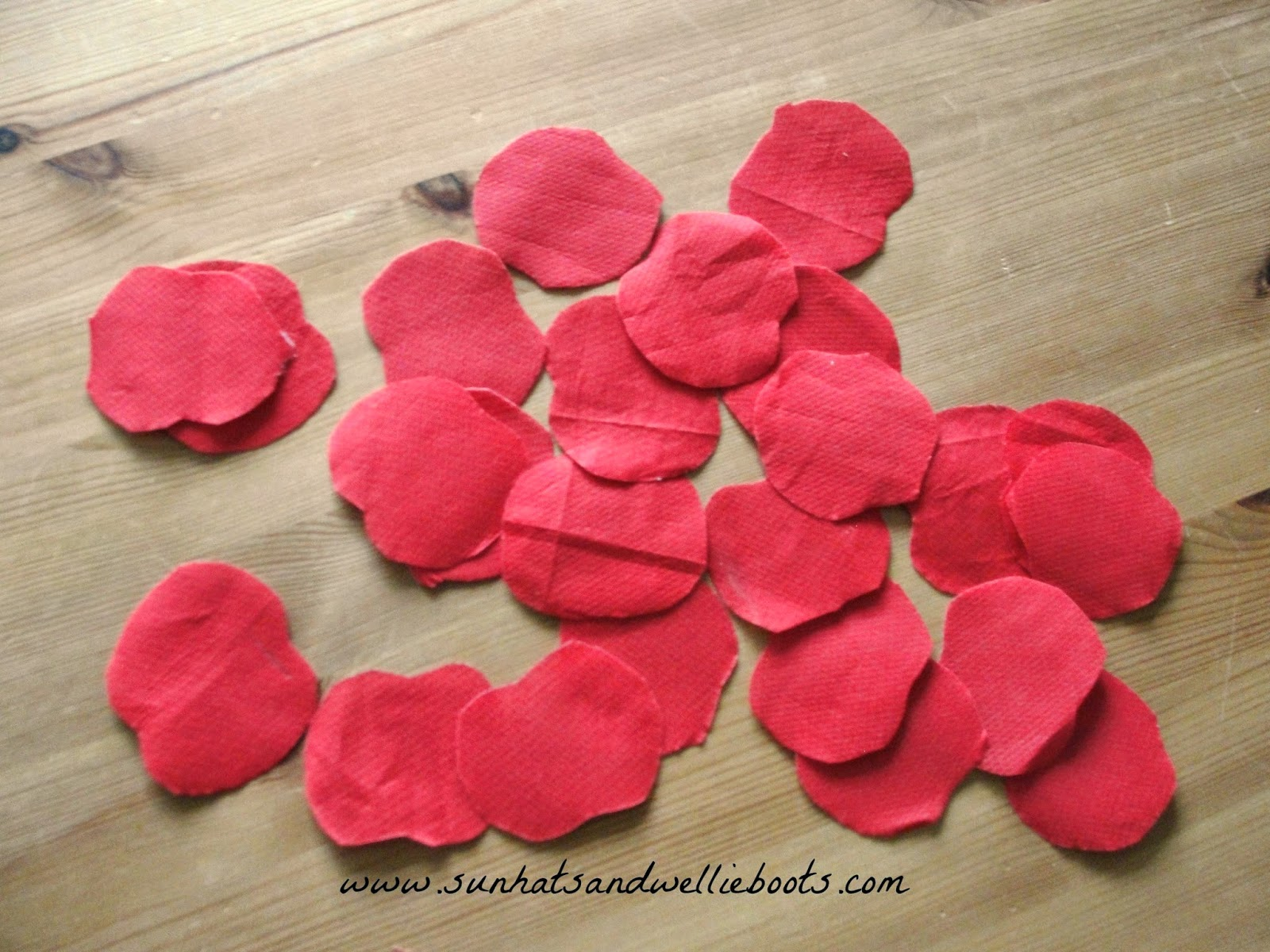 Sun hats wellie boots paper plate poppy wreath for remembrance once we had enough flowers we covered the plate with glue attached our poppies we found a glue stick worked best for this craft as the gloopy pva made mightylinksfo Gallery