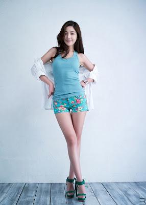 Jo Sang Hi Sexy Baby Blue Dress