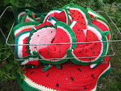 Crocheted Watermelon Potholders