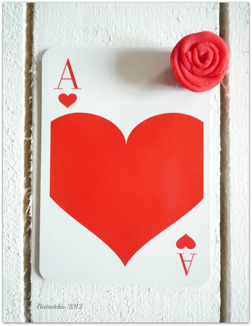 Love card using a deck of cards because a love message can be send in many ways from BistrotChic