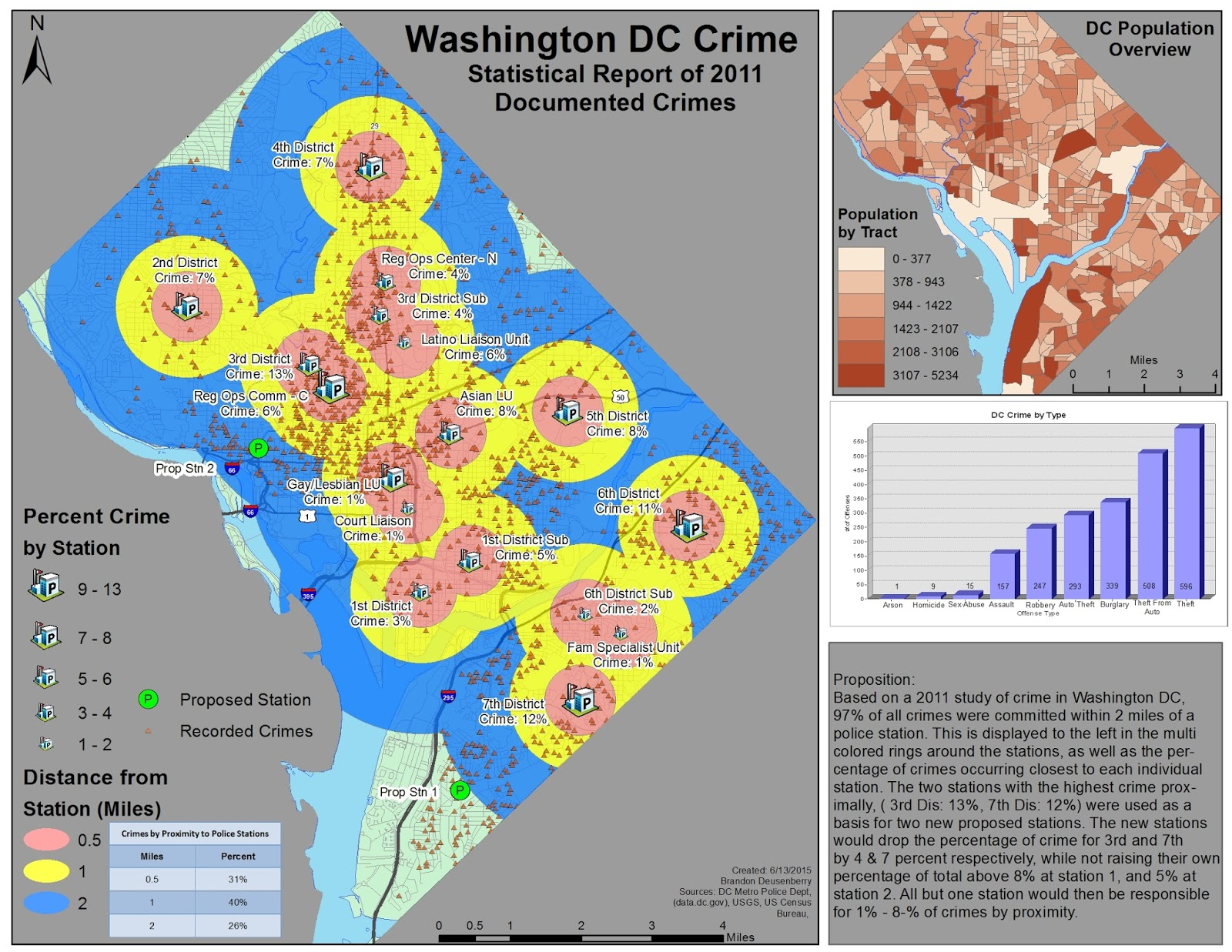 Brandos GIS Odyessy  Application In GIS DC Crime - Washington dc gis map
