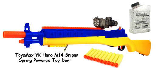 ToysMax YK Hero M14 Sniper Spring Powered Toy Dart  #yknighthawk