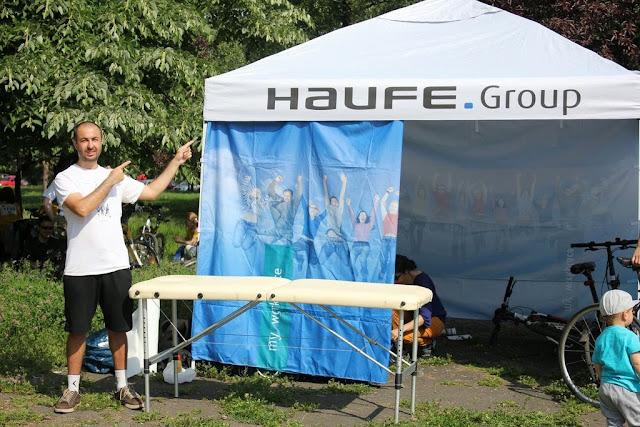 Firmelor 2015, Timişoara. Maseur pentru Haufe-Lexware Romania. Cort Haufe