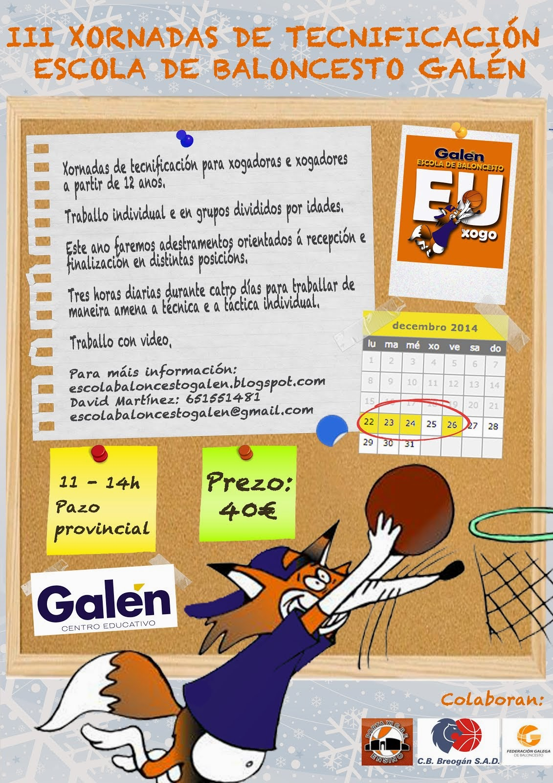 III Xornadas de Tecnificación Escola Baloncesto Galén