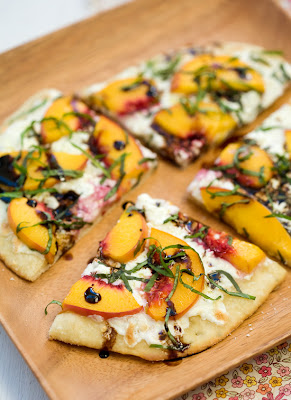 Summer Peach and Balsamic Pizza | Cook'n is Fun - Food Recipes ...