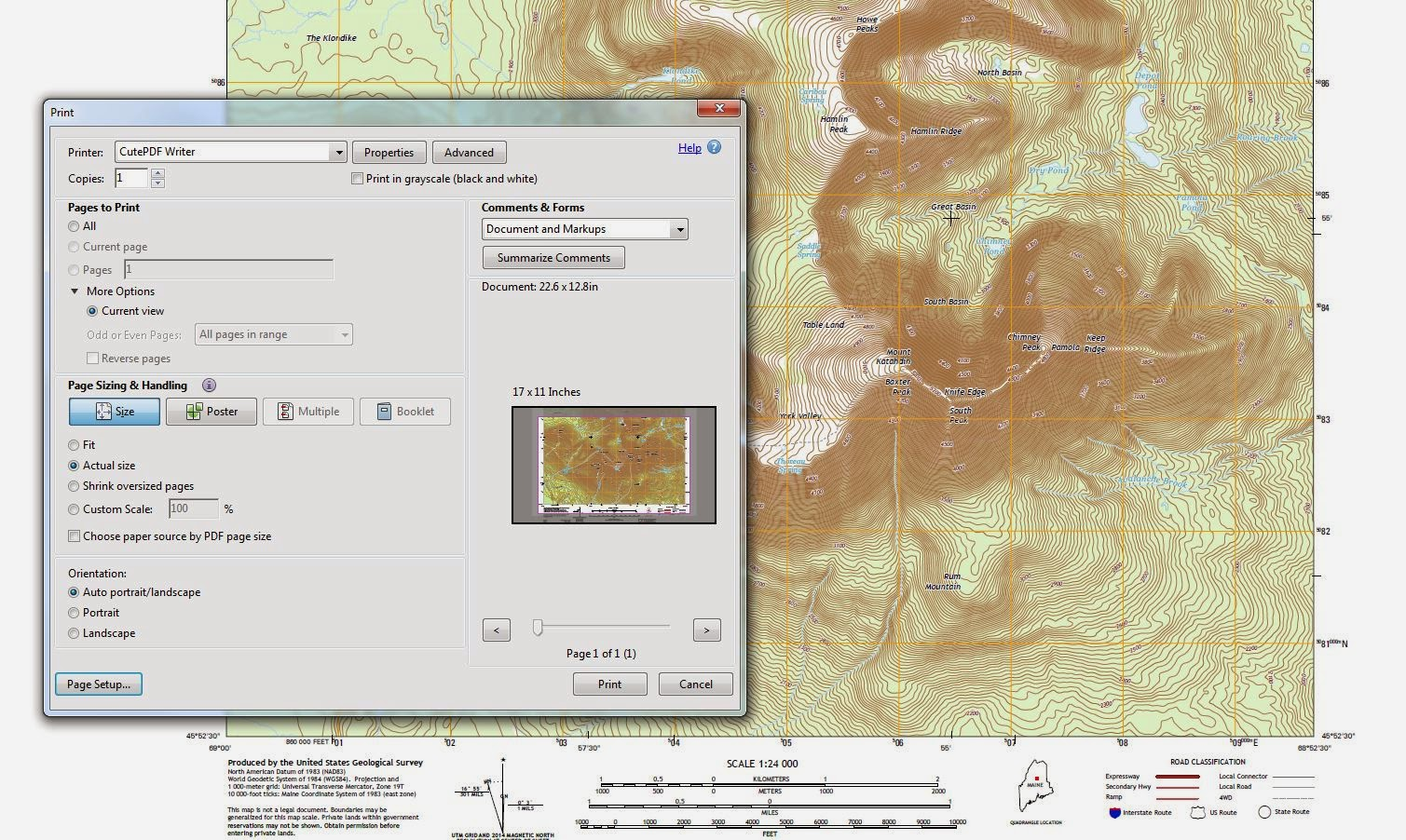 printing usgs topo maps