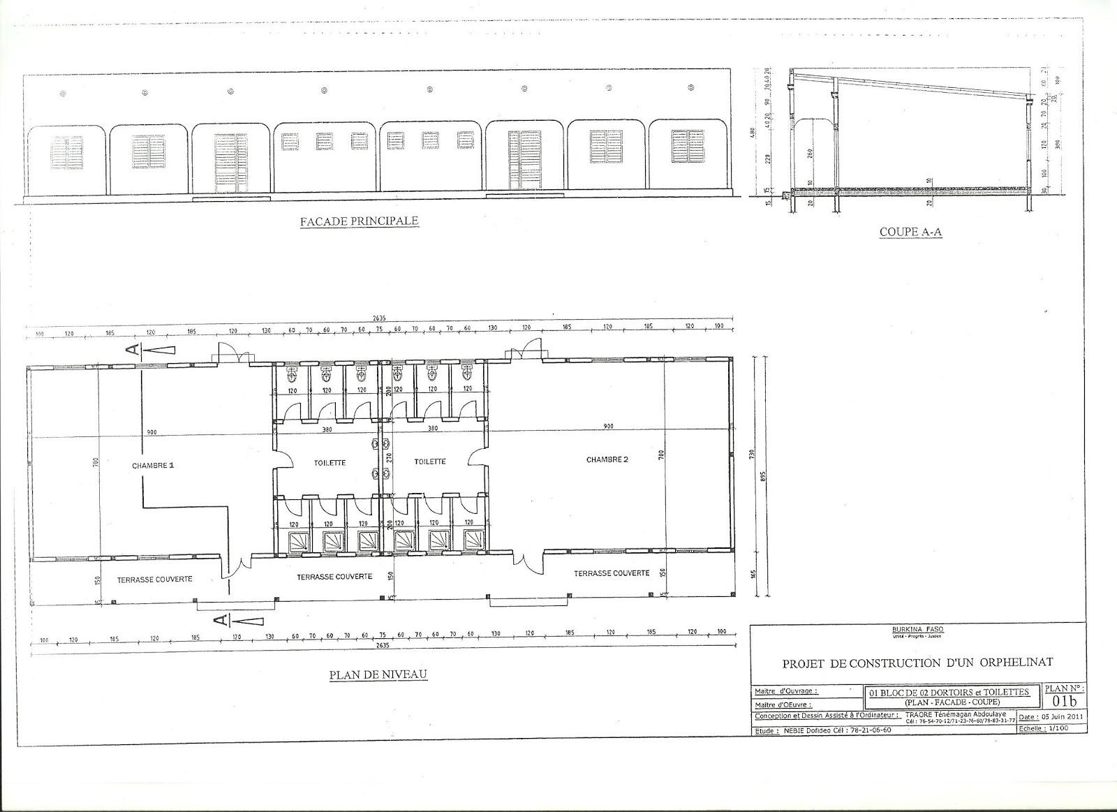 Aboubakar seri le plan de terrain de l 39 orphelinat en for Plan terrain