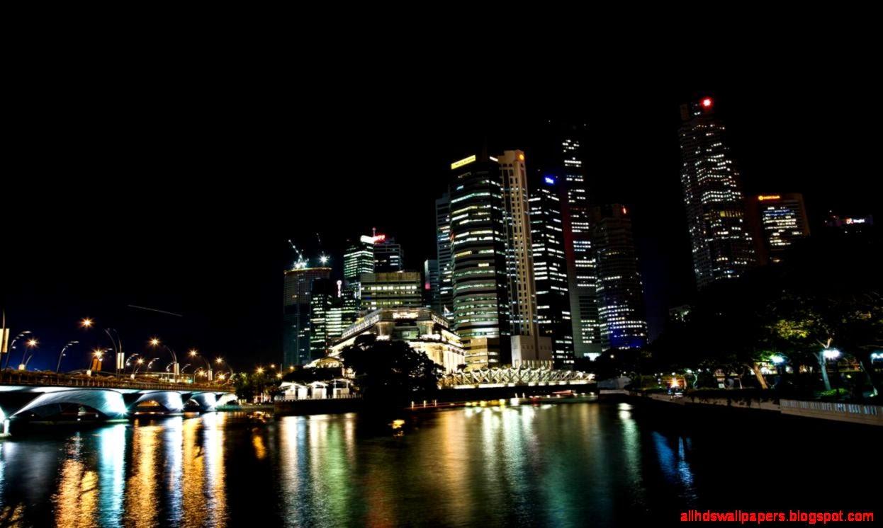 3D City Skyline Wallpaper