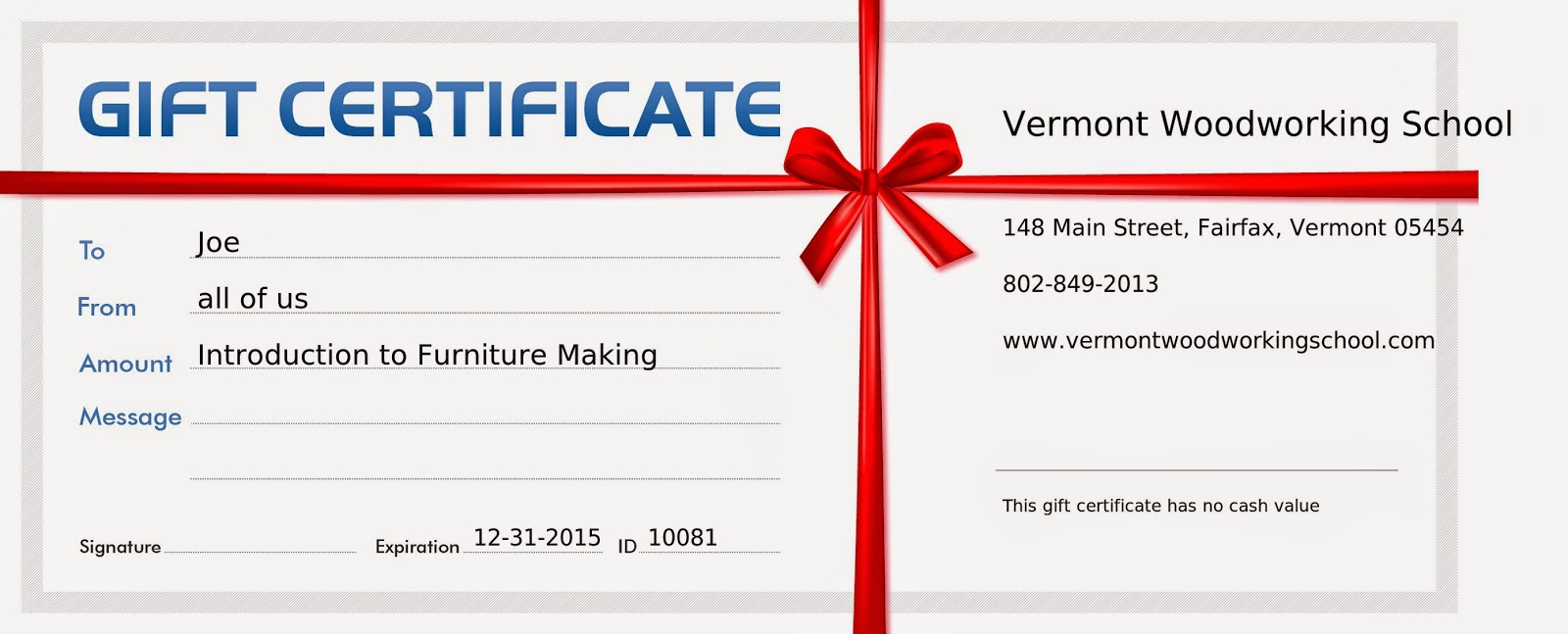 vermont woodworking school blog gift certificates make great presents