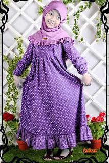 Baju Anak Muslim Polkadot