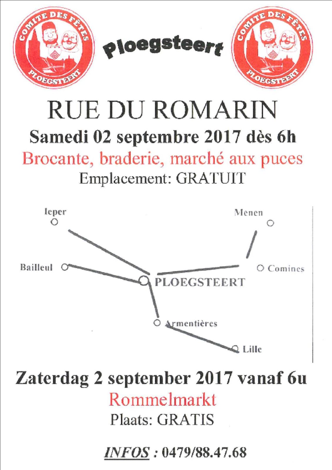 2 septembre brocante rue du Romarin
