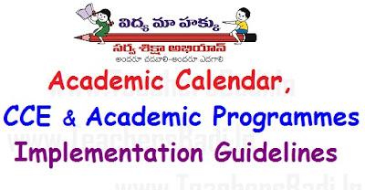 Academic Calendar, CCE,Academic Programmes
