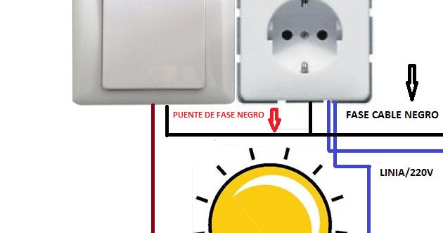 Interruptor con enchufe esquemas el ctricos - Enchufe y interruptor ...