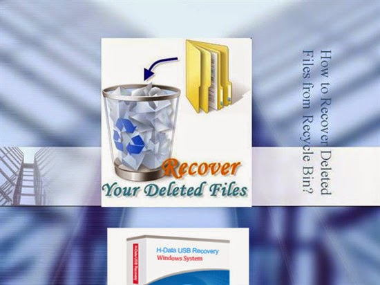 How to restore data once deleted from recycle bin