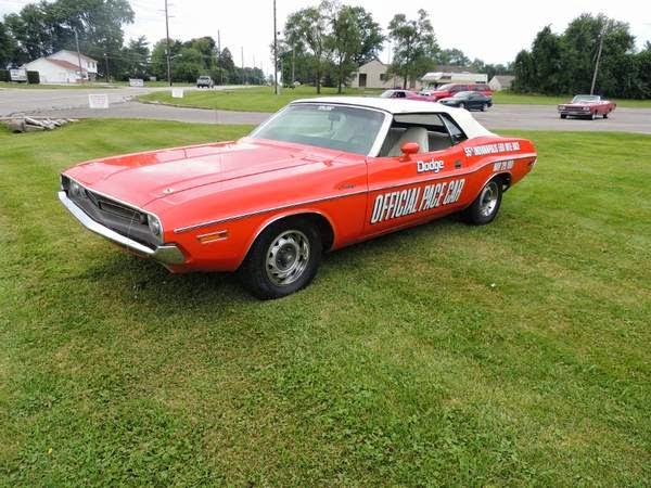 1971 Dodge Challenger Official Pace Car Auto Restorationice