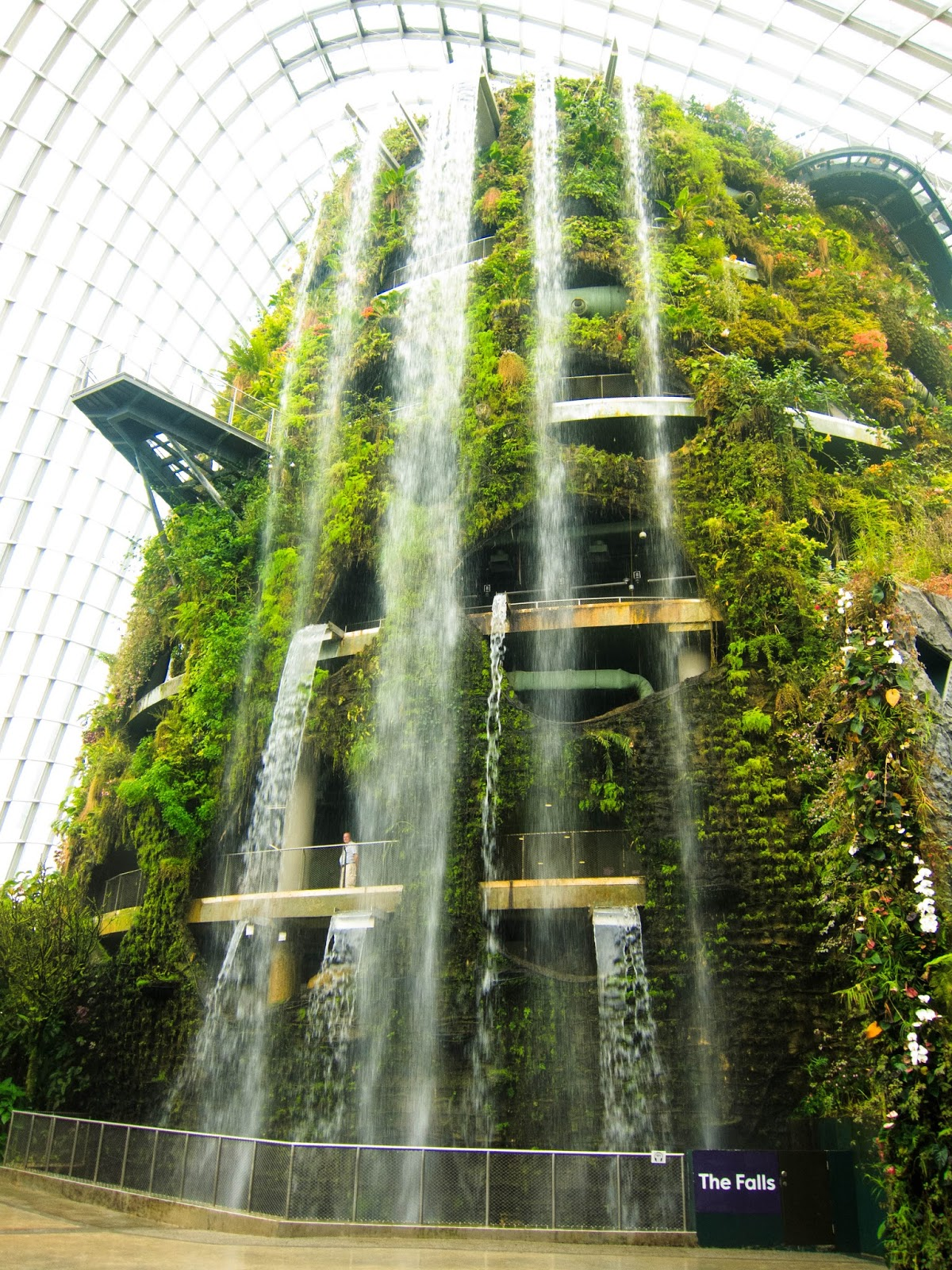The Falls, World's tallest indoor waterfall, inside Cloud Forest, Gardens by the Bay in Singapore | Svelte Salivations - Travel
