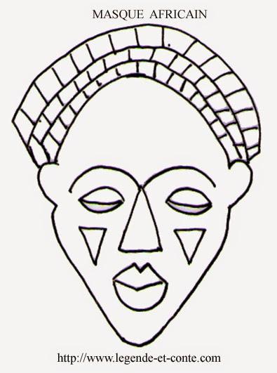 Grandir est un jeu d 39 enfant masque africain - Dessin de masque africain ...