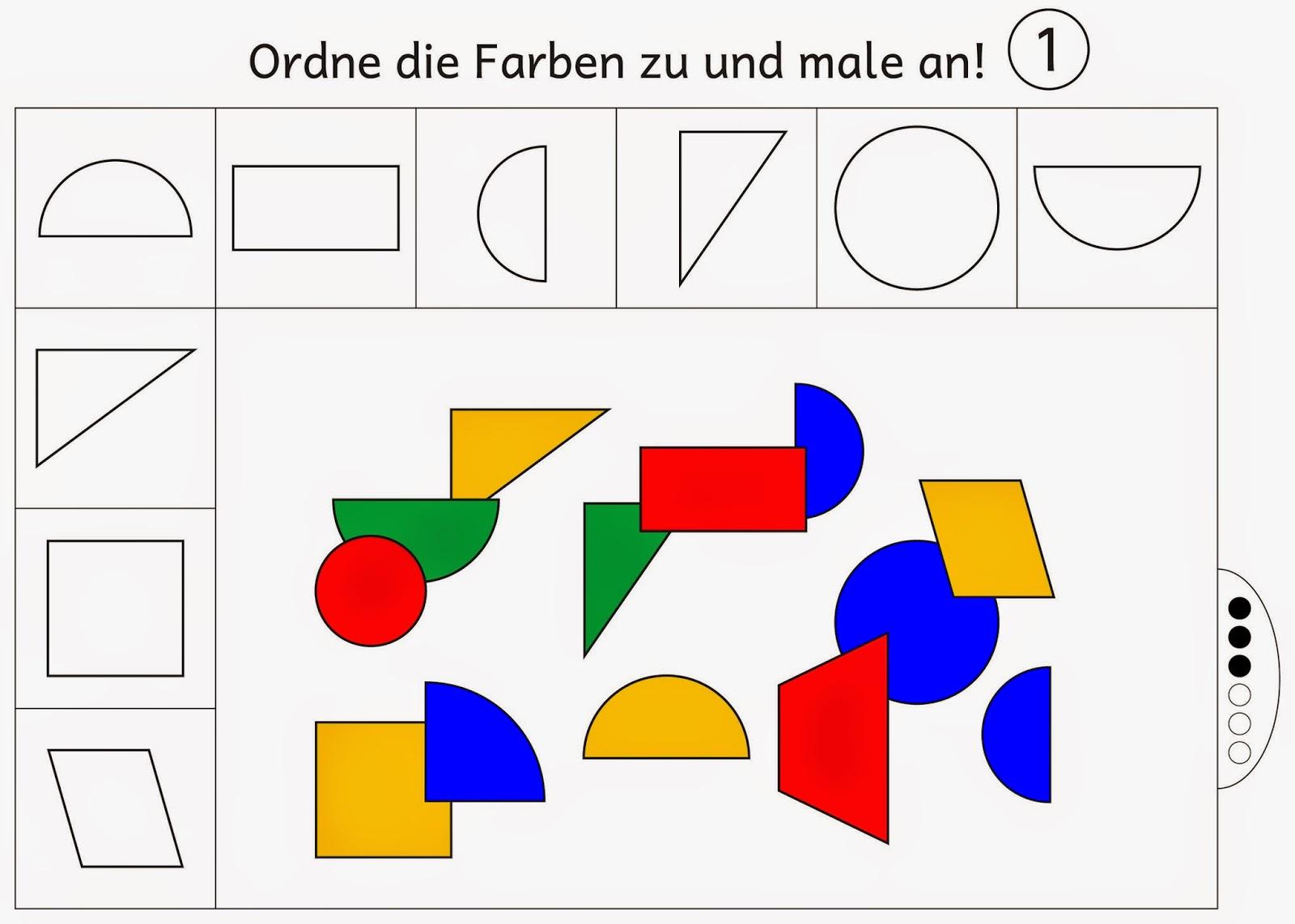 Ausgezeichnet Formen Färben Arbeitsblatt Zeitgenössisch - Druckbare ...