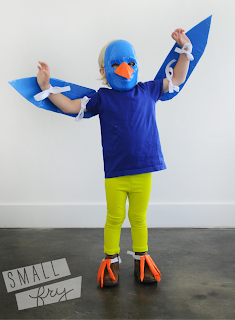 Bird Costume Made from Duct Tape