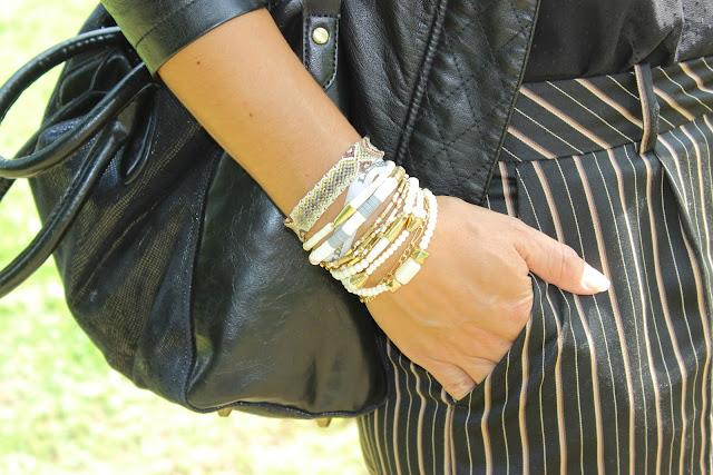 Short sinequanone, capeline noire, bracelet hipanema
