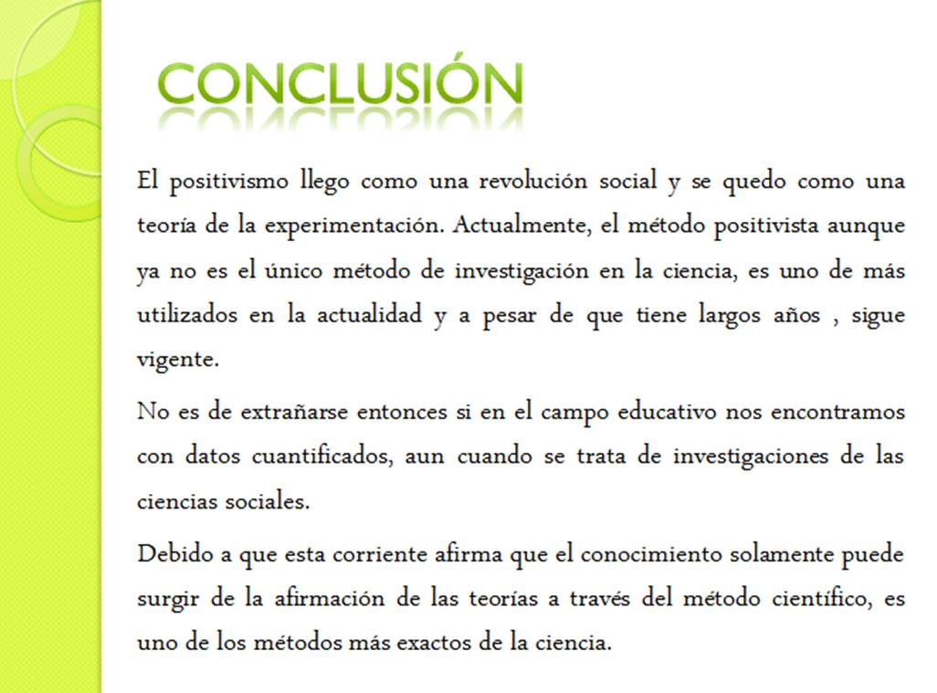Enfoque positivista conclusi n for Conclusion de un vivero