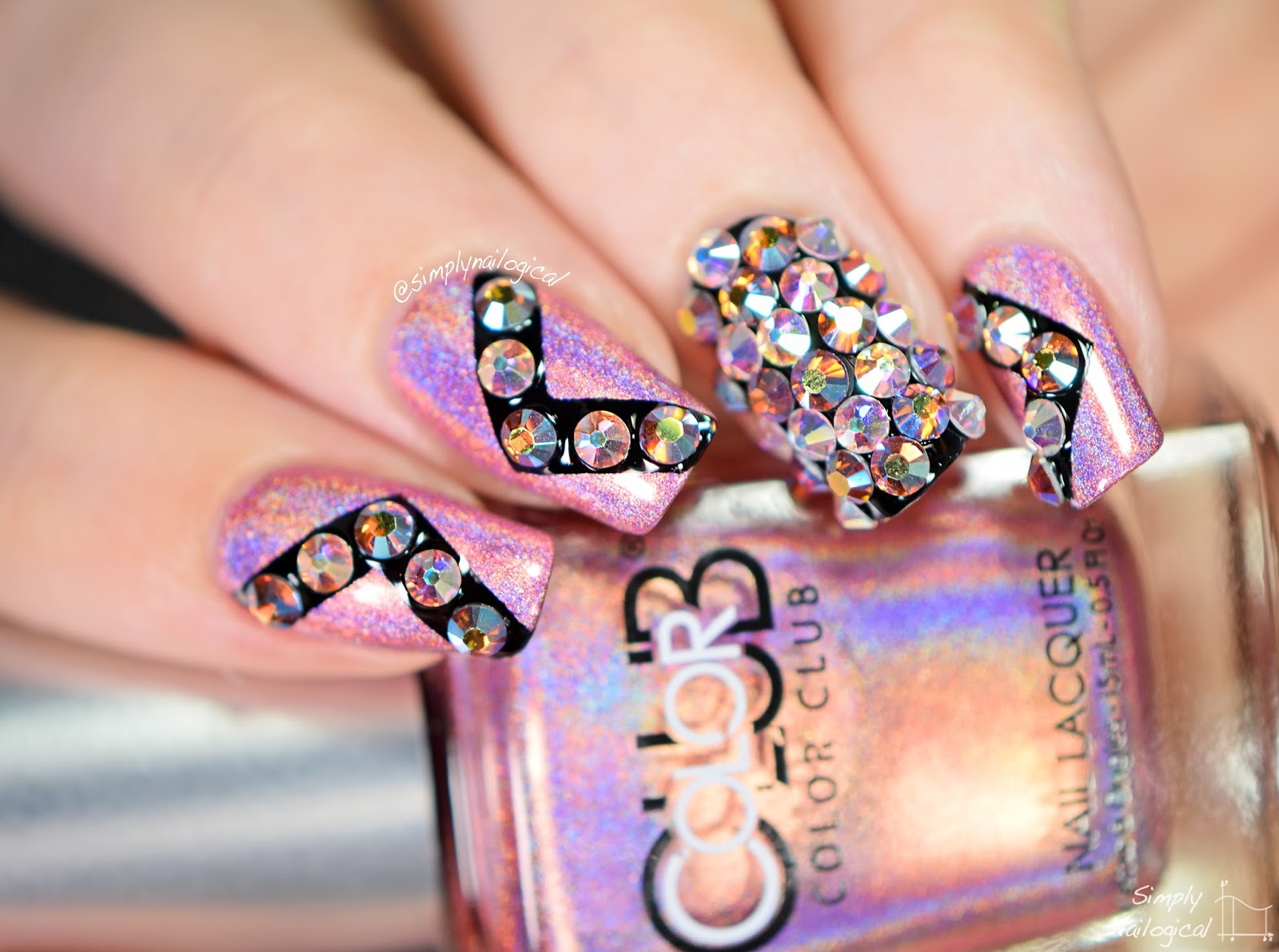 Simply Nailogical: Crystal bling nails with the Crystal Katana