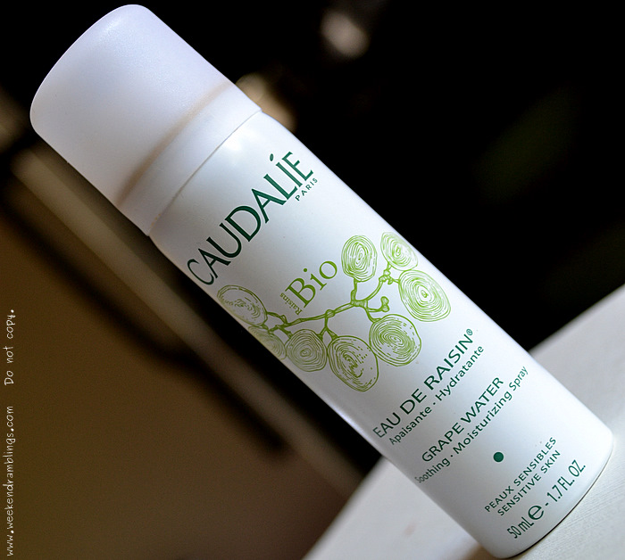 caudalie organic natural skincare blog beauty toner softener hydrating moisturizing spray grape water summers dry reviews ingredients Vitis Vinifera face facial