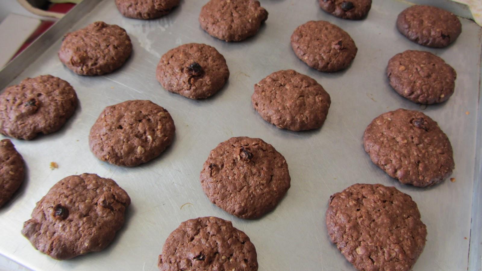 рецепт овсяного печенья с какао