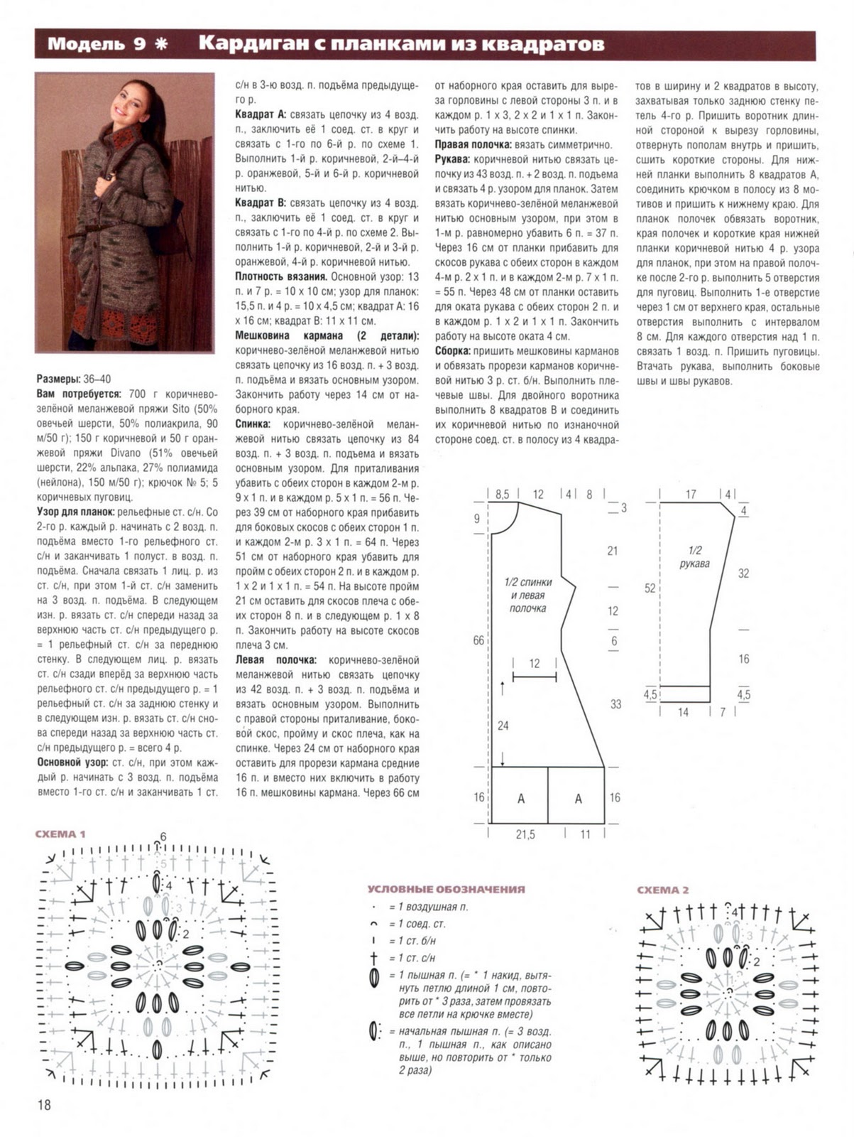 Кардиган крючком схемы и описание спицами