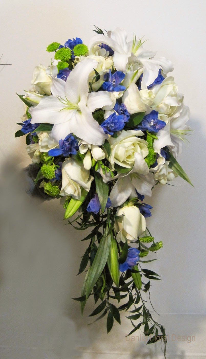 Blue lily bouquet wedding flowershttprefreshrosespot blue lily bouquet wedding flowers izmirmasajfo