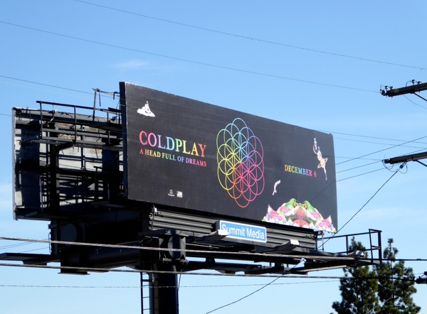 Coldplay head full of stars album billboard