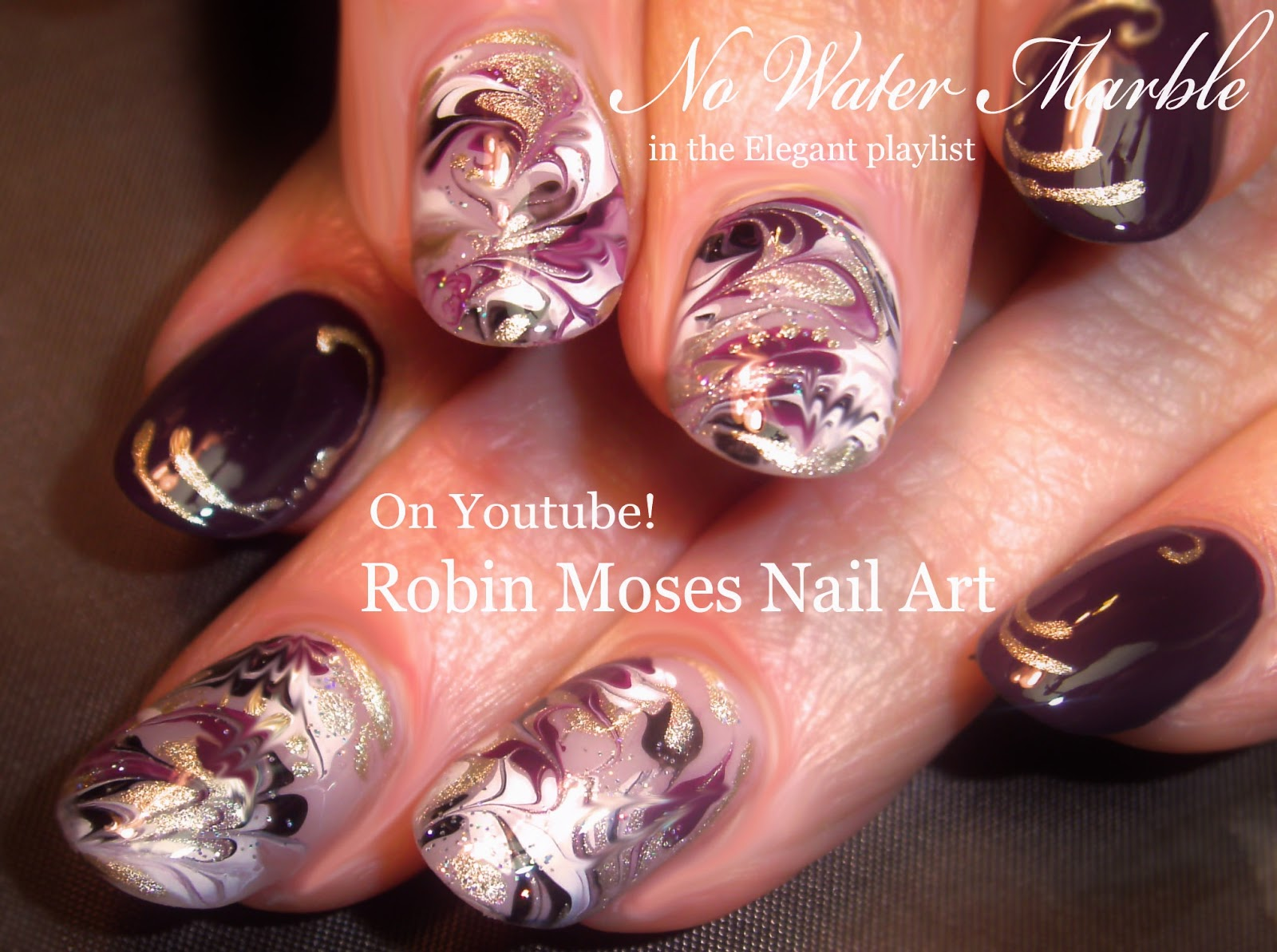 No water marble nail art gallery nail art and nail design ideas robin moses nail art marble nails with no water needed no water no water needed marble prinsesfo Image collections