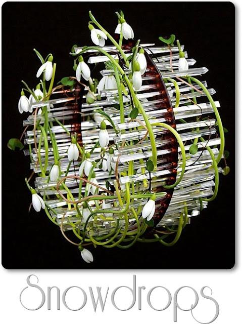 konst med blommor, blomster konst, flower art, snödroppar