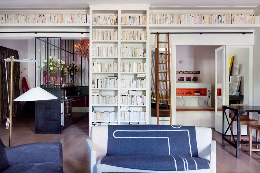Elegantly modern home design - Bibliotheque salon design ...