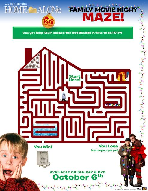 Home Alone Maze Printable