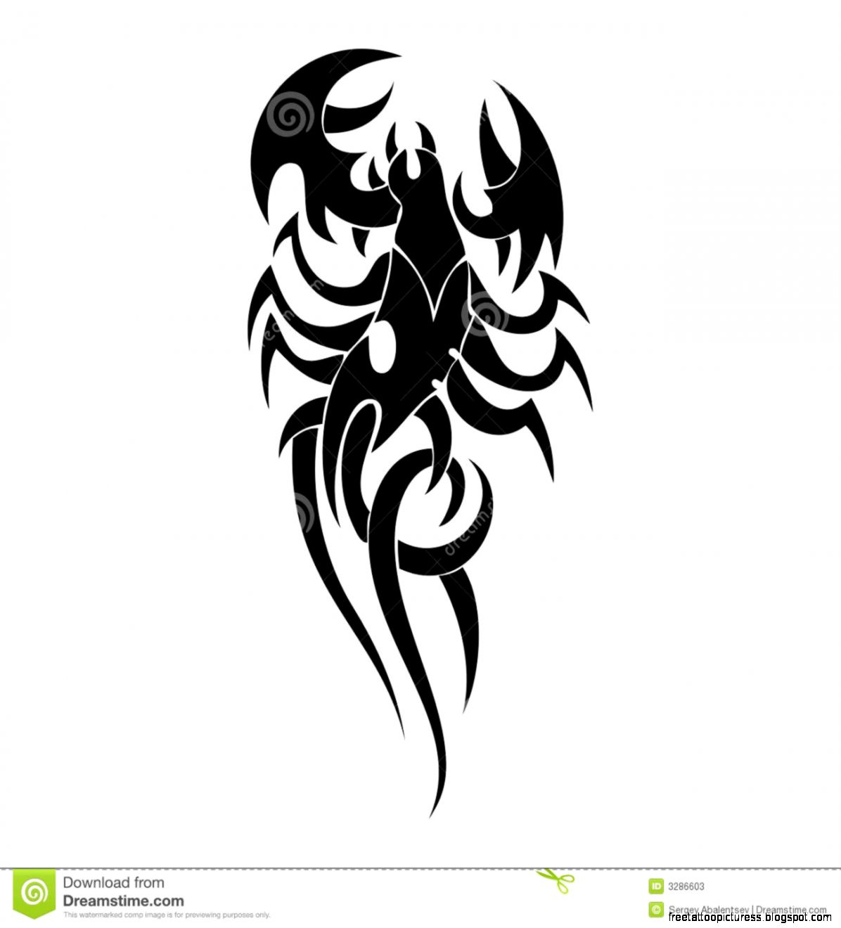 Scorpion Tatoo Royalty Free Stock Photos   Image 3286608