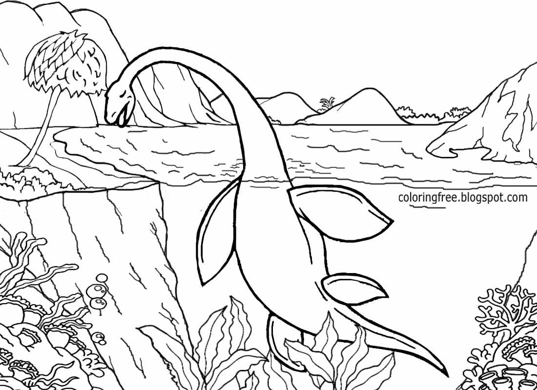 Coloring pages dinosaurs and dragons - Wiped Out Macroplata Genus Picture Primeval Marine Reptile Dinosaur Sea Creature Jurassic Coloring