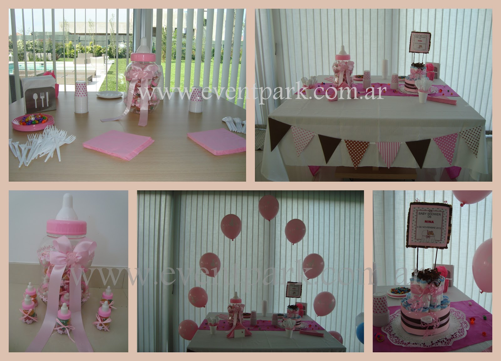 Decoracion para baby shower de nina for Decoracion baby shower nina