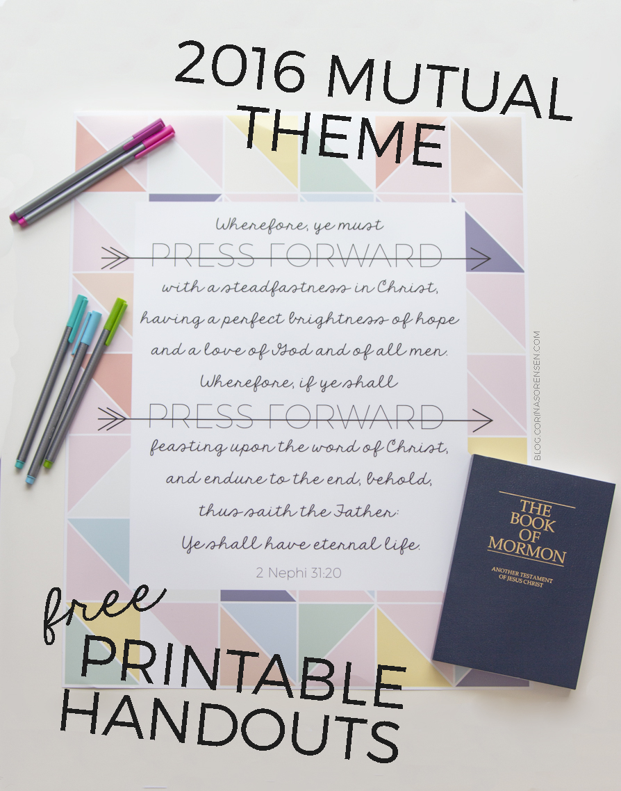 2016 Mutual Theme Printables