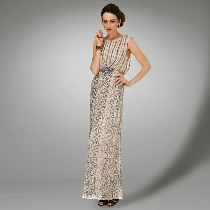 Gatsby style affordable beaded wedding dress - Phase Eight