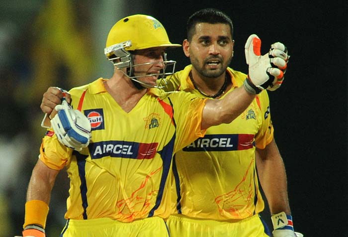 Murali Vijay and Michael Hussey