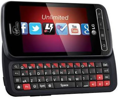 new LG Optimus Slider Smartphone