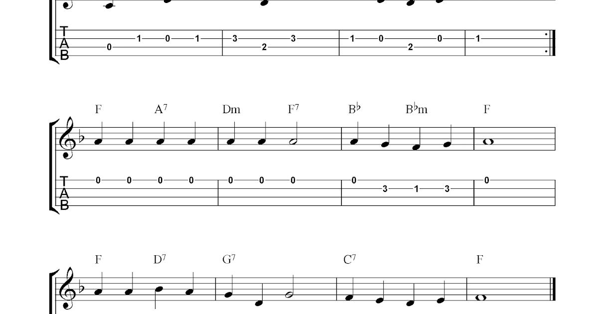 Love Me Tender (Aura Lee), free ukulele tab sheet music